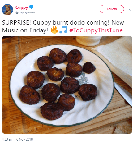 See the clever way a Twitter user sent DJ Cuppy his bank details
