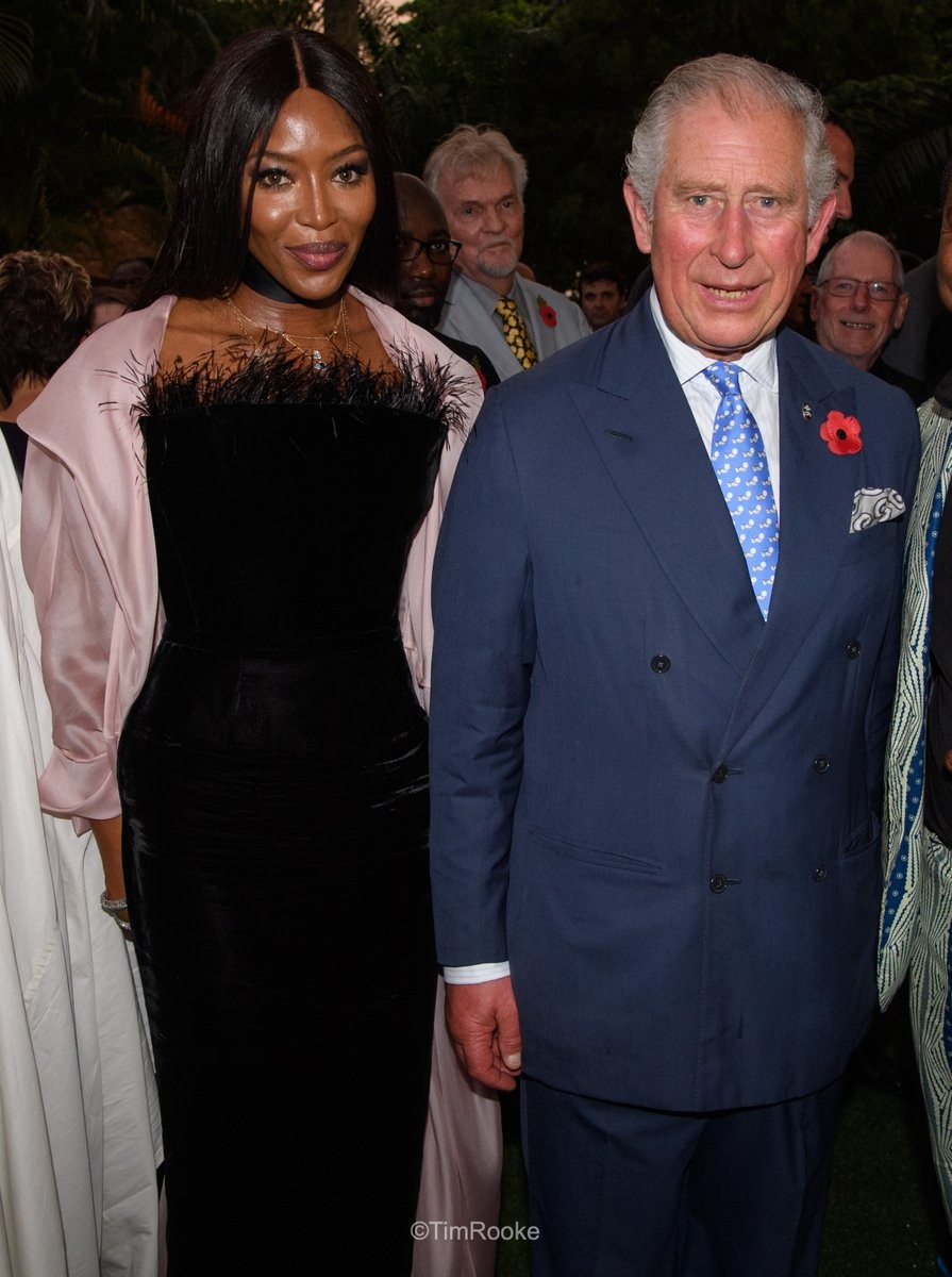Photos of Prince Charles and Naomi Campbell in Lagos