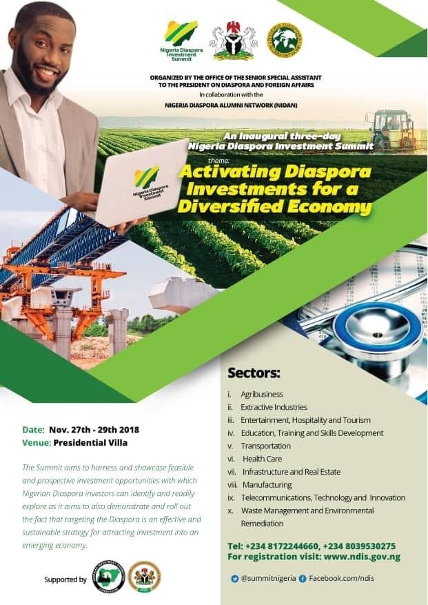 Nigeria hosts maiden Diaspora Investment Summit