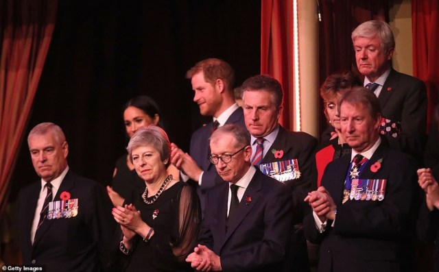 Prince Harry and ?Meghan Markle join other royals for the Royal British Legion Festival of Remembrance (Photos)