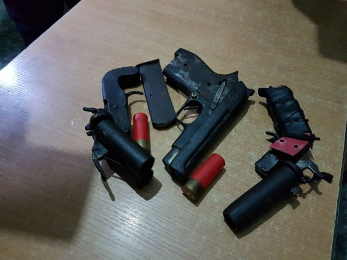Photos: Police uncovers five guns hidden in an uncompleted building in Lagos