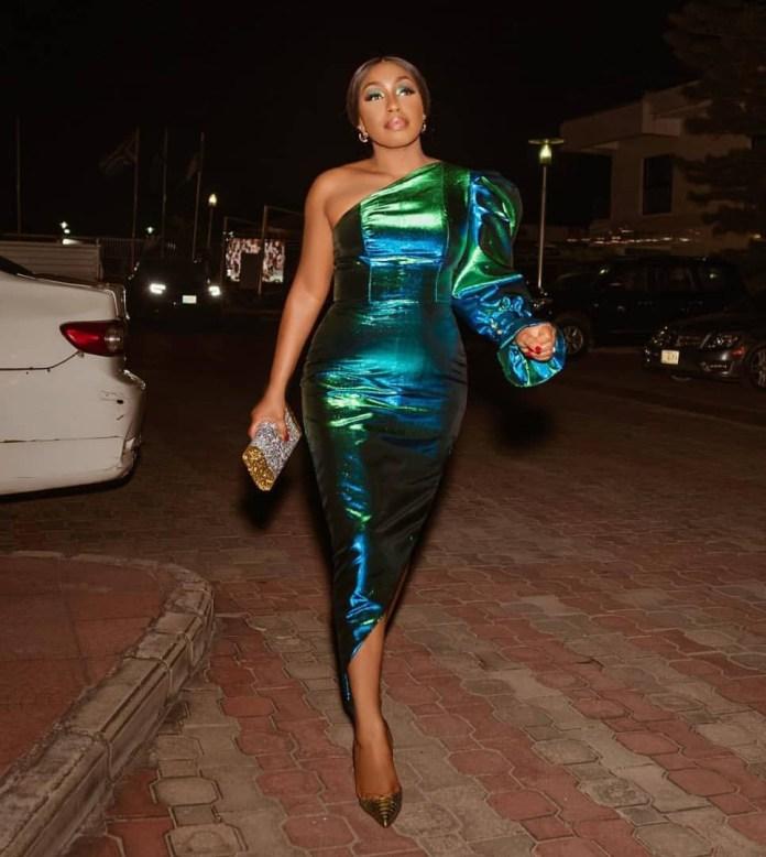 Nollywood actress Rita Dominic dazzles in stunning monostrap dress (Photos)