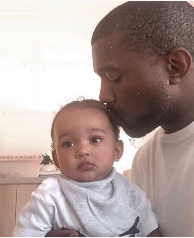 Kanye West and his youngest daughter, Chicago, bond in new photo