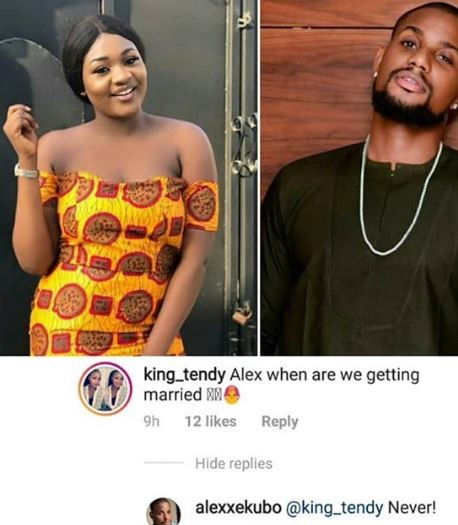 Between Alexx Ekubo and a female fan who wants to marry him...