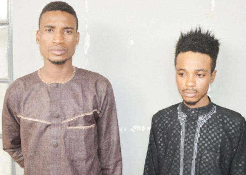 Photo: Two men arrested in Kano for enticing prominent men into homosexuality and blackmailing unwilling ones