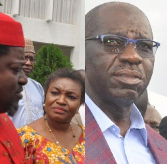 Edo state governor, Godwin Obaseki walks BEDC MD out of his office over power outage in the state (video)