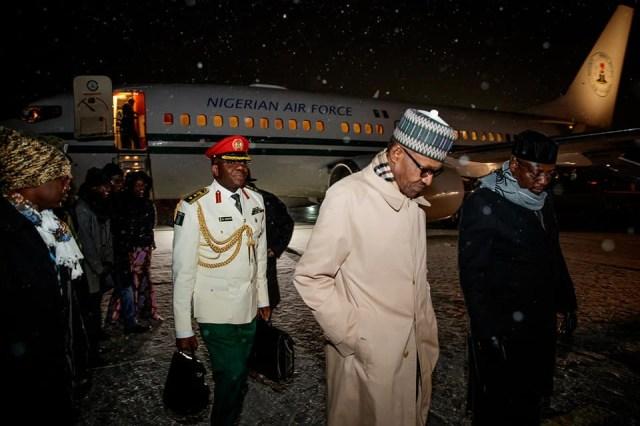 Photos: President Buhari arrives in Poland