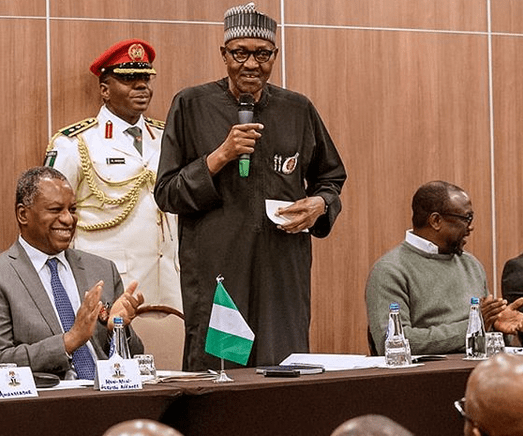 Image result for Video: ''It's real me'' President Buhari responds to cloning allegation