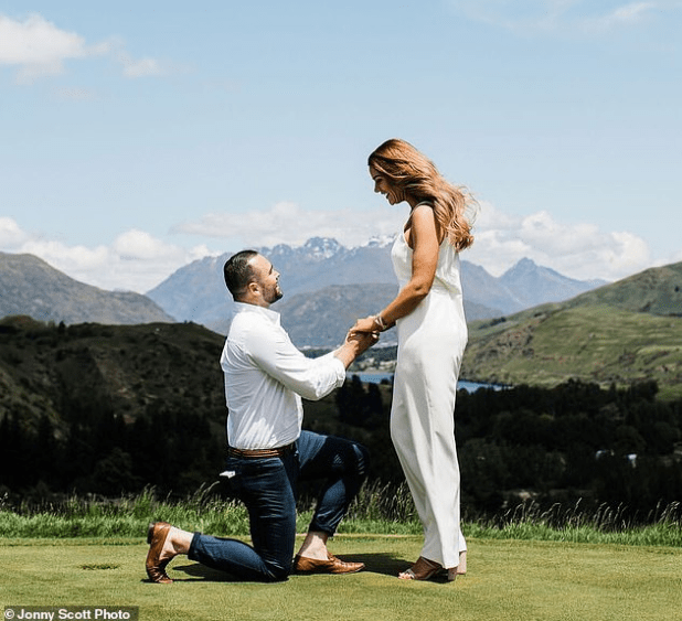 Woman overcomes horrific gang rape attack and 92kg weight gain and finally finds happiness as her boyfriend proposes in a fairytale setting