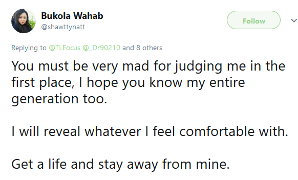 Married woman blasts Twitter user who condemned her mode of dressing
