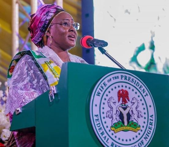 Image result for You have made the right choice, Aisha commends Nigerians