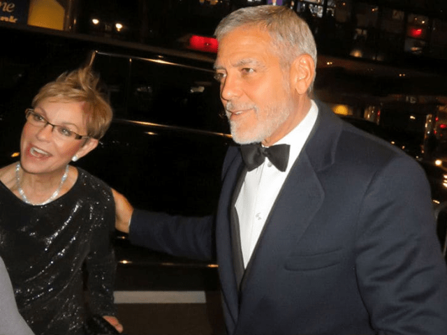 Goerge Clooney, his wife and parents step out looking sophisticated for a United Nations gala