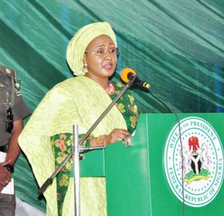 Watch video of Aisha Buhari alleging that two powerful personalities are holding her husband
