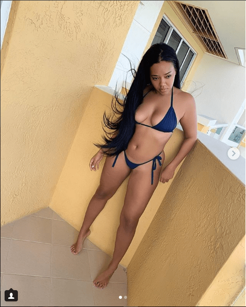 Angela Simmons shows off her hot body in a two-piece bikini (Photos)