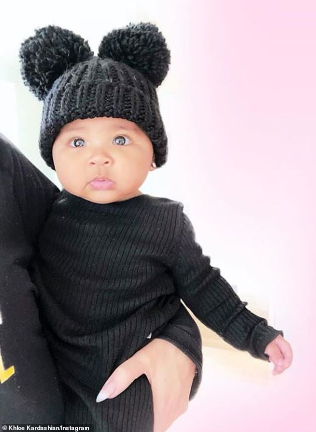 Khloe Kardashian shares adorable photos of her baby daughter True wearing beanie with pom poms (Photos)