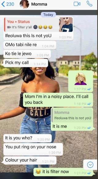 Check out this Nigerian mum