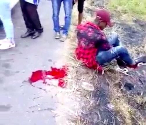 Photos/Video: Policeman allegedly fires shot at road user along East-West road
