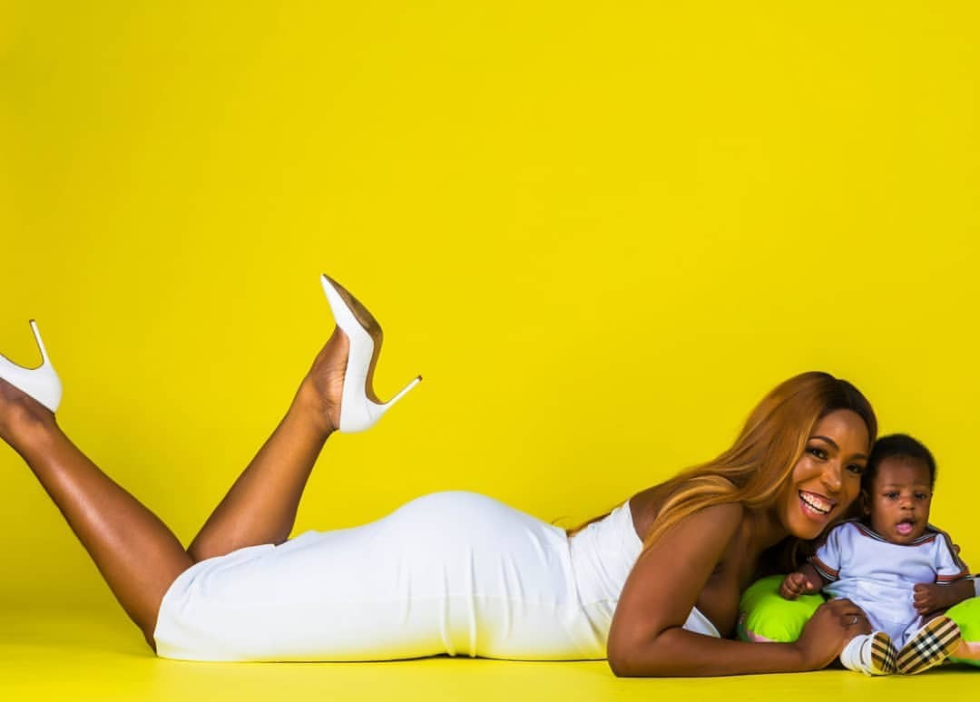 Check out this Adorable photos of lindaikeji and her Son