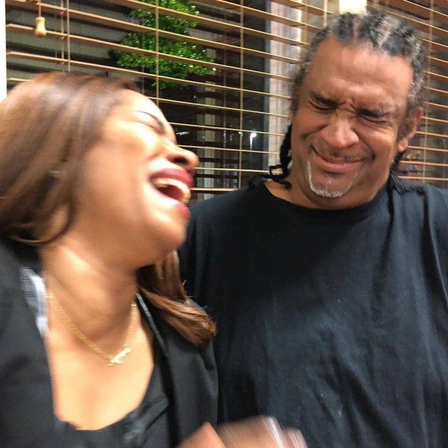 Regina Askia and her hubby share a kiss as they celebrate her 51st birthday (photos)