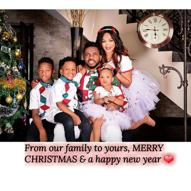 Footballer, Joseph Yobo and wife, Adaeze, release family Christmas photos