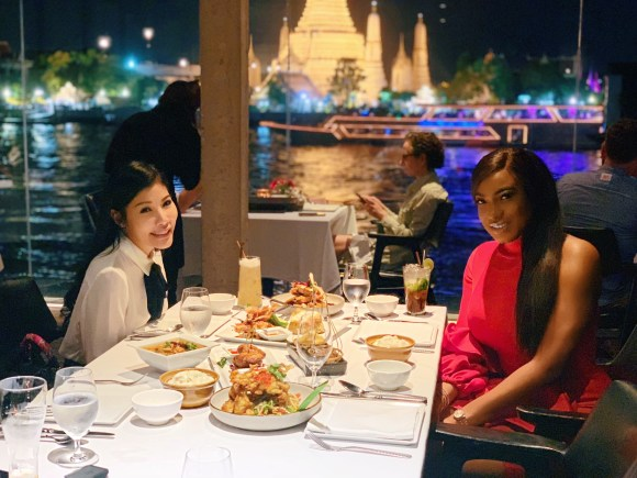 Photos: Chika Ike stuns in red for a Christmas dinner in Thailand