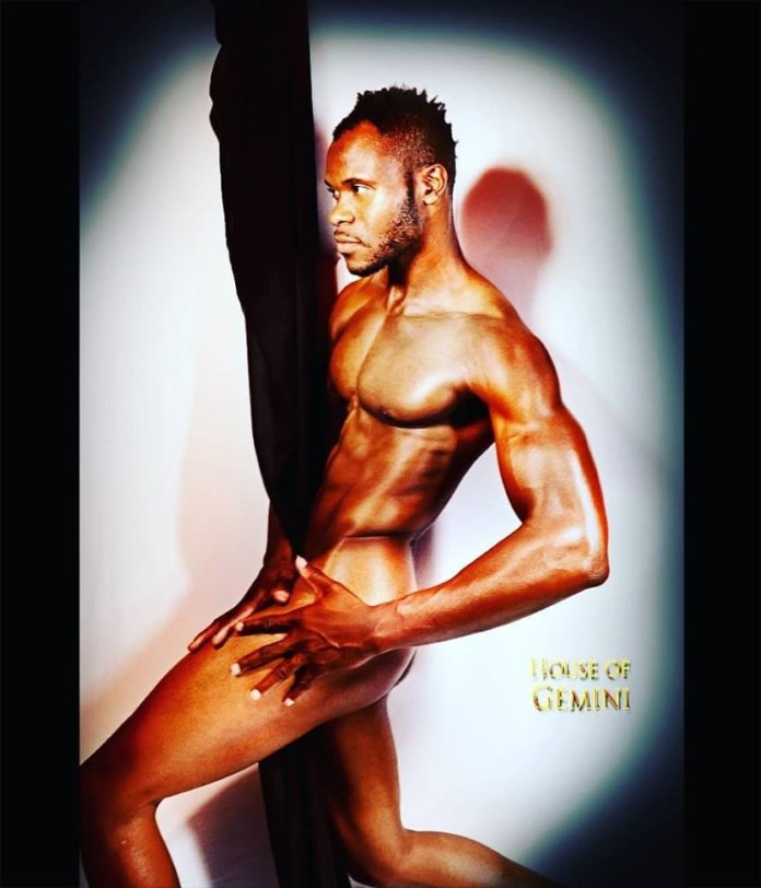 Nigerian male model, Frederick Kerelodi, strips naked to bid 2018 farewell