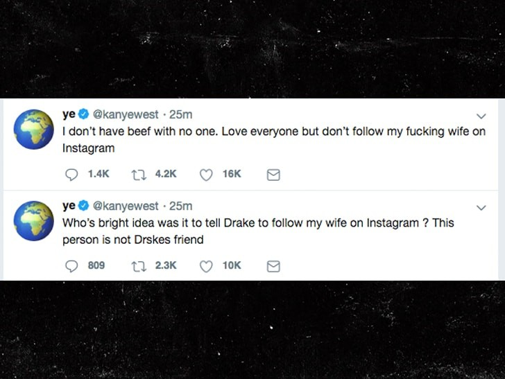 Here is the warning Kanye West gave Drake on Twitter just before the New Year