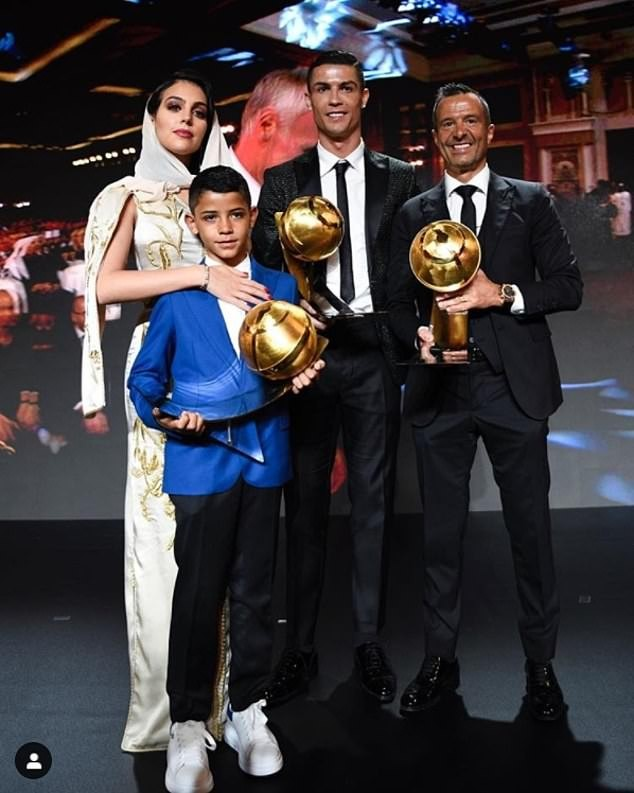 Cristiano Ronaldo named Player of the Year at the Globe Soccer Awards ahead of Griezmann and Mbappe (Photos)