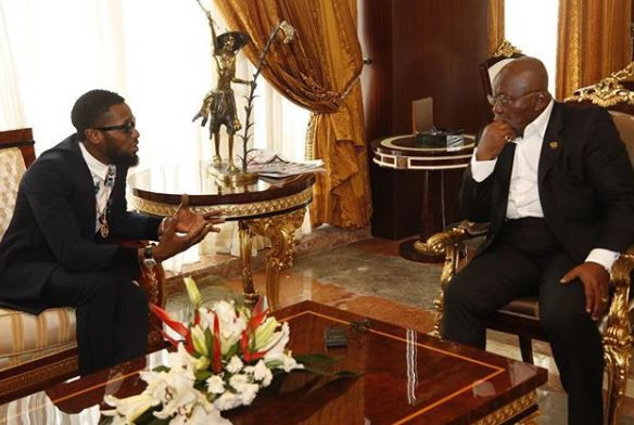 Nigerian Popstar  Dbanj meets with the President of Ghana, Nana Akufo Addo
