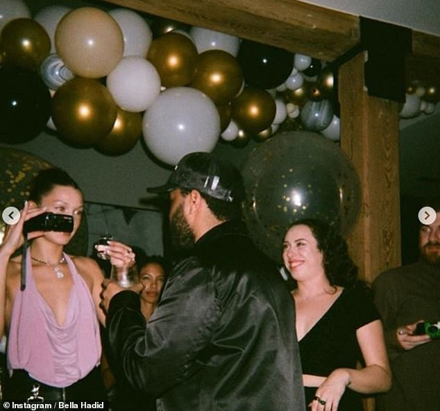 Bella Hadid puts up loved-up display with beau The Weeknd in unseen New Year