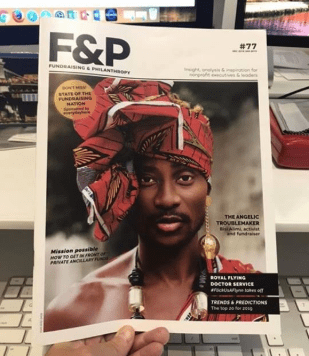 Bisi Alimi dons gele, earrings and neck beads as he covers Australia