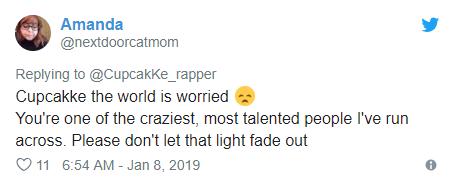 Rapper Cupcakke hospitalized after she posted suicidal tweet