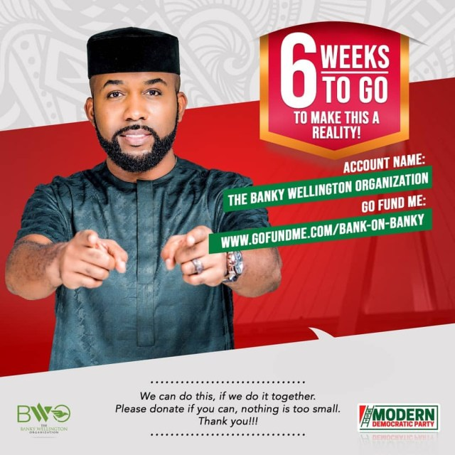 Banky W releases details of how people can donate towards his campaign