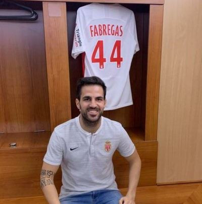 Chelsea midfielder, Cesc Fabregas completes switch to Monaco and?will wear Jersey 44 (Photos)