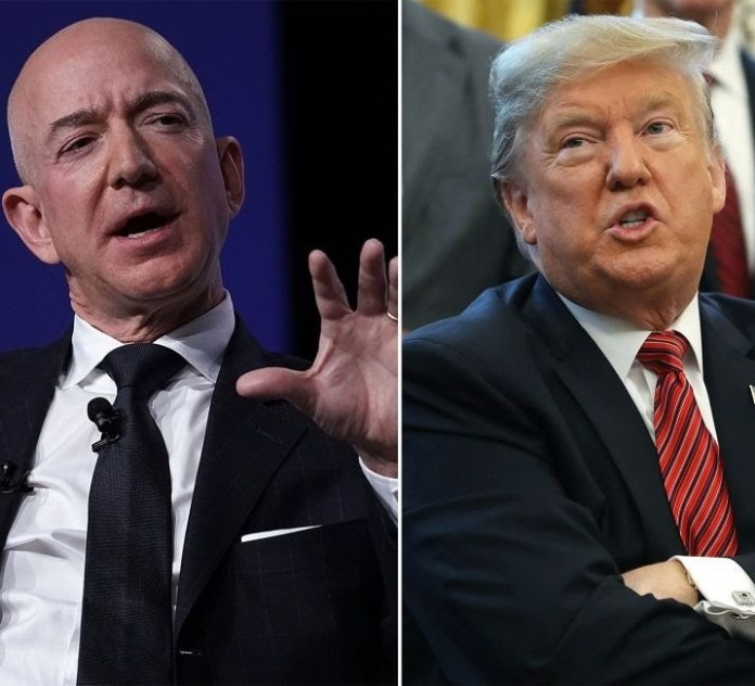 "Donald Trump slams Jeff Bezos over his affair, calls him ""Jeff Bozo"" and praises National Enquirer for exposing him"