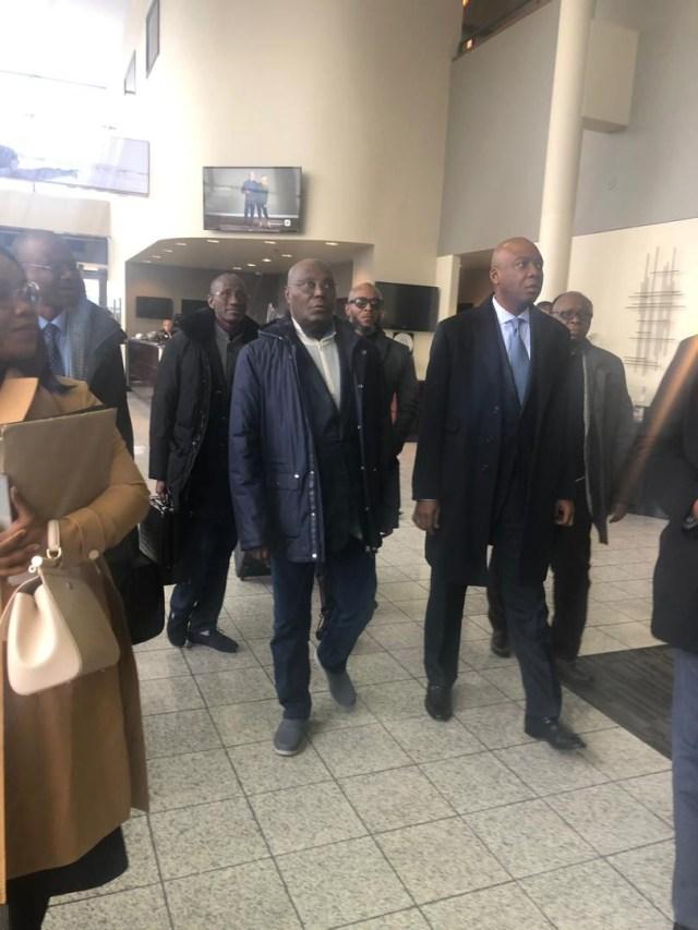 Photos: Atiku Abubakar arrives Washington DC for a meeting with US government officials