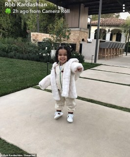 Rob Kardashian shares adorable photo of his two-year-old daughter Dream rocking Gucci tracksuit?(Photo)