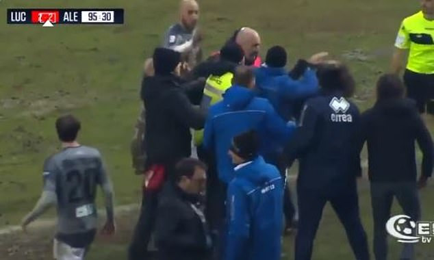 Italian coach banned for headbutting rival coach after ordering one of his players to break an opponent
