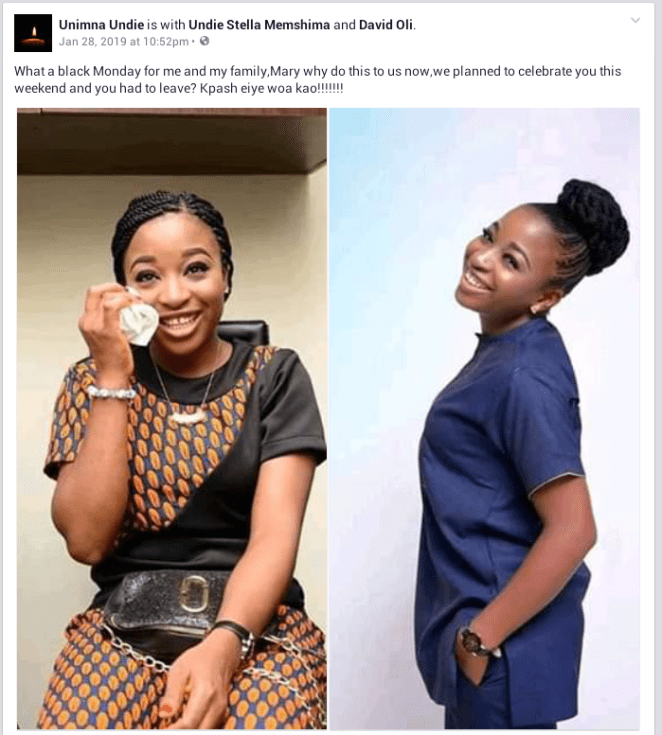 Photos/Video: University of Calabar fresh graduate killed in fatal accident few days to her wedding