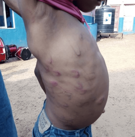See what a mother did to her 7-year-old son because he broke her food flask (photos)