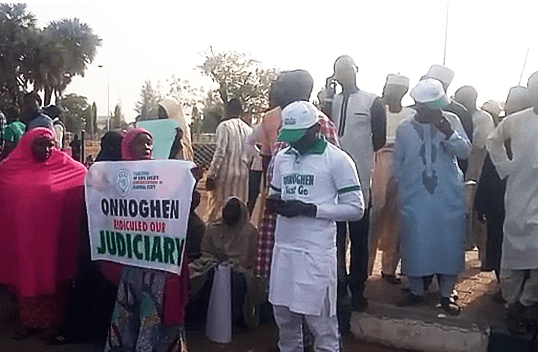 Photos: Kaduna state residents stage anti-Onnoghen protest, demand his resignation and immediate prosecution