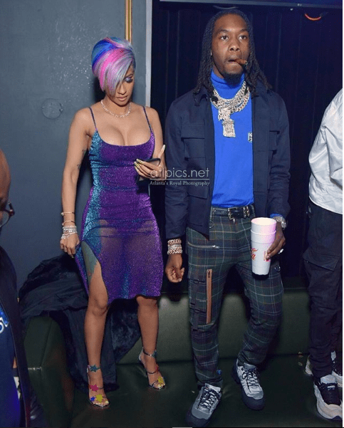 [photos]Cardi B and husband Offset reunite at Super Bowl Party