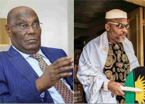 Nnamdi Kanu alleges that Atiku is from Cameroon, tells his followers to boycott?2019 election