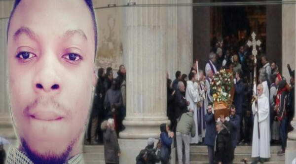 Photos from the funeral of 25-year-old Nigerian graduate who committed suicide in Italy after residence permit denial