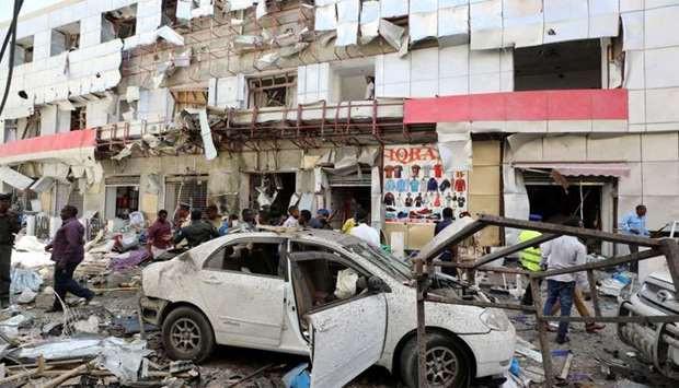 11 killed, several injured as car bomb explodes near shopping mall in Mogadishu, Somalia