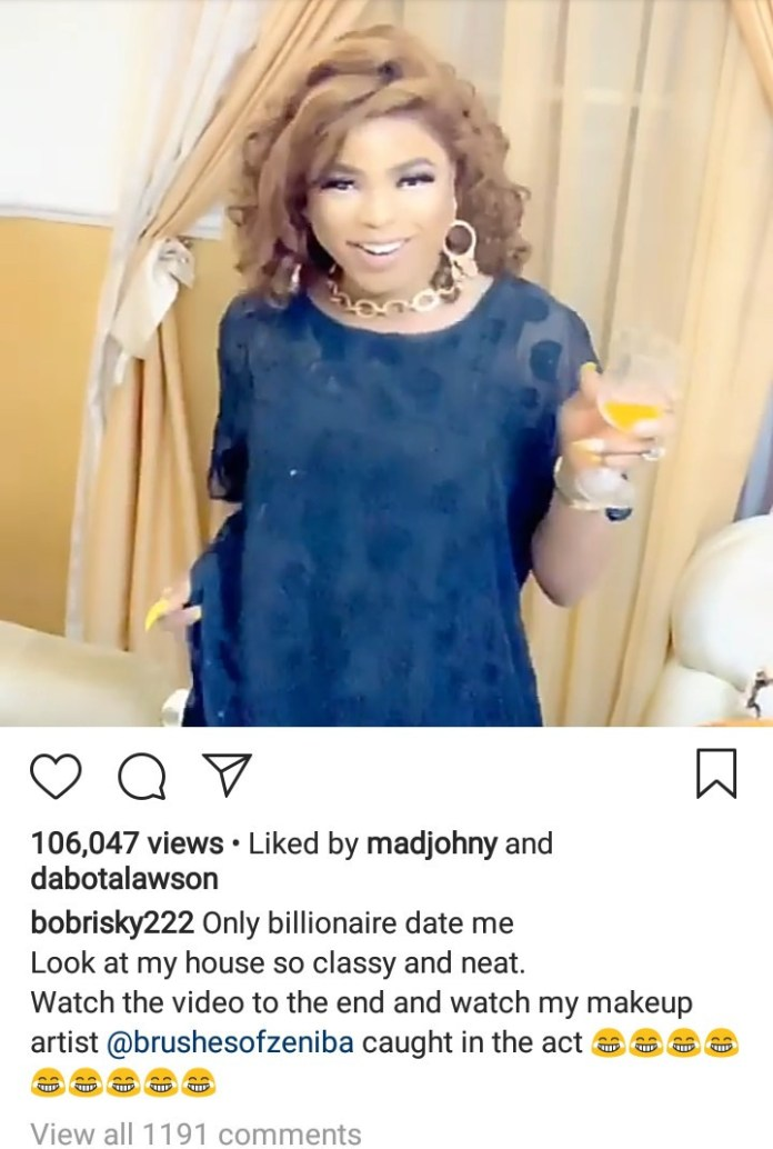 """Only billionaires date me""- Bobrisky makes it clear"