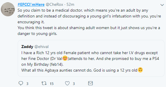 Twitter users react after doctor proudly revealed that he has a 12-year-old rich female patient crushing on him