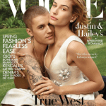 Justin and Hailey Bieber on the cover of Vogue