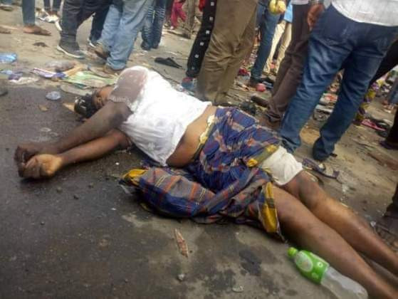 Graphic photos: 7 killed in stampede at APC rally in Rivers state