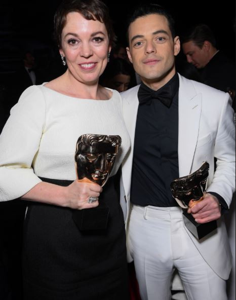 Actor, Rami Malek and his eggplant cause a stir on the red carpet (Photo)